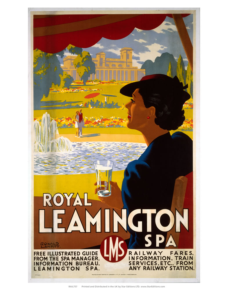 "Royal Lemington Spa - LMS Railway 24"" x 32"" Matte Mounted Print"