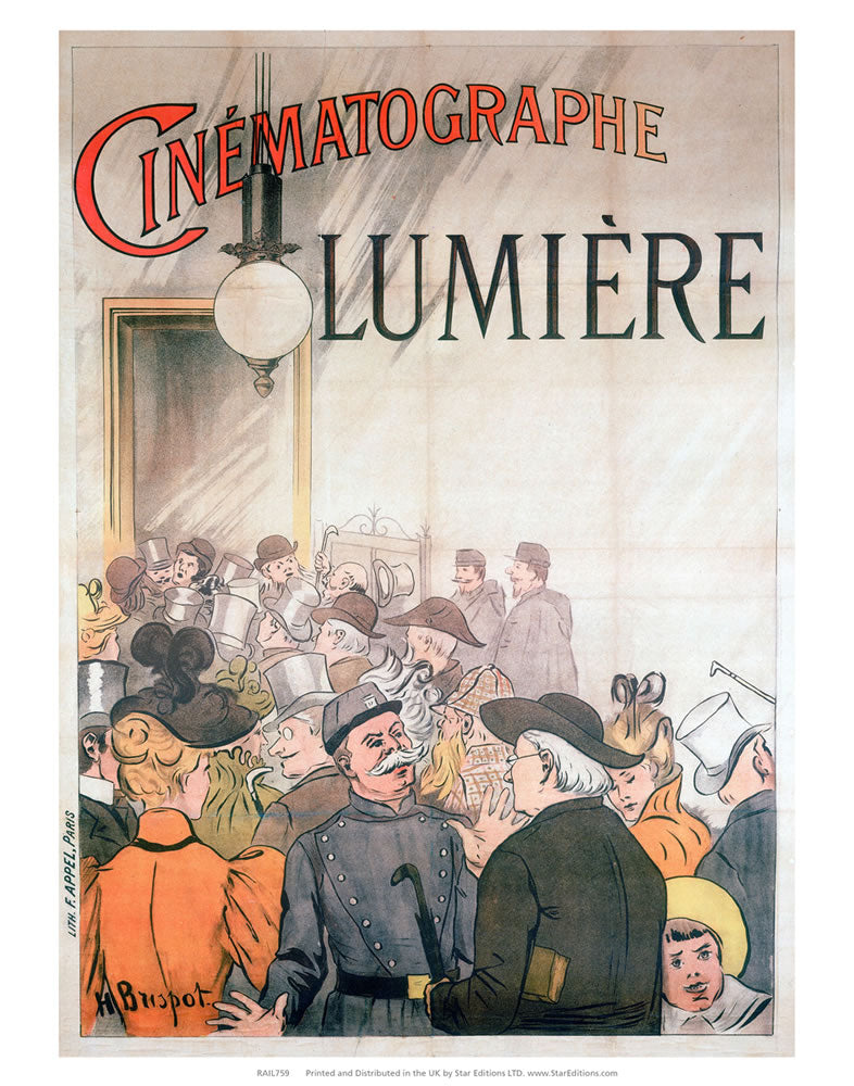 "Cinematographie Luminere - Busy 24"" x 32"" Matte Mounted Print"