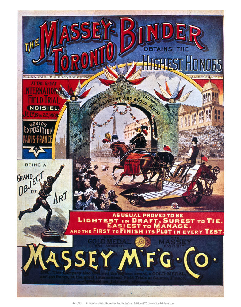 "Massey-Toronto Binder - MFG Co Poster 24"" x 32"" Matte Mounted Print"