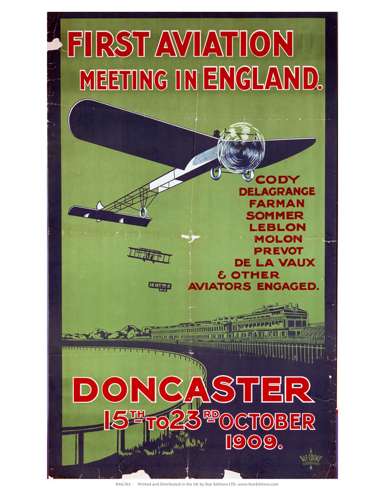 "First Aviation meeting in England - doncaster 24"" x 32"" Matte Mounted Print"