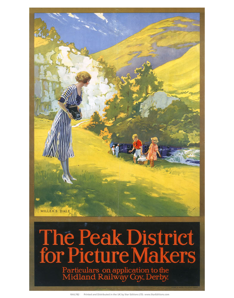 "The Peak District for Picture makers - Hillside family 24"" x 32"" Matte Mounted Print"