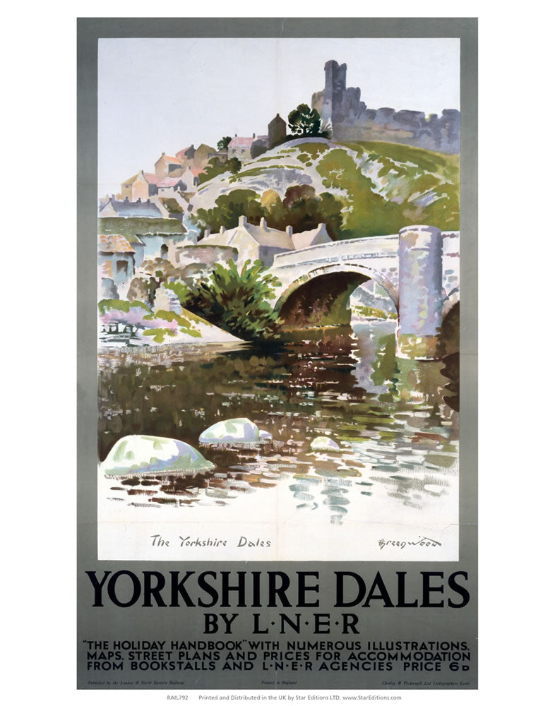 "Yorkshire Dales Holiday handbook - By LNER 24"" x 32"" Matte Mounted Print"