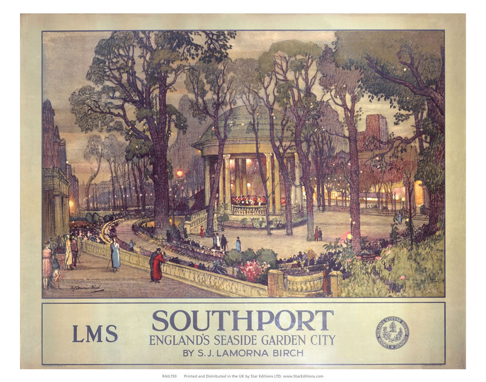 "Southport - Seaside garden city 24"" x 32"" Matte Mounted Print"