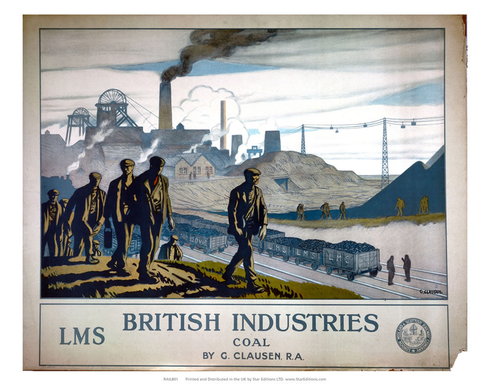 "LMS British Industries Coal 24"" x 32"" Matte Mounted Print"