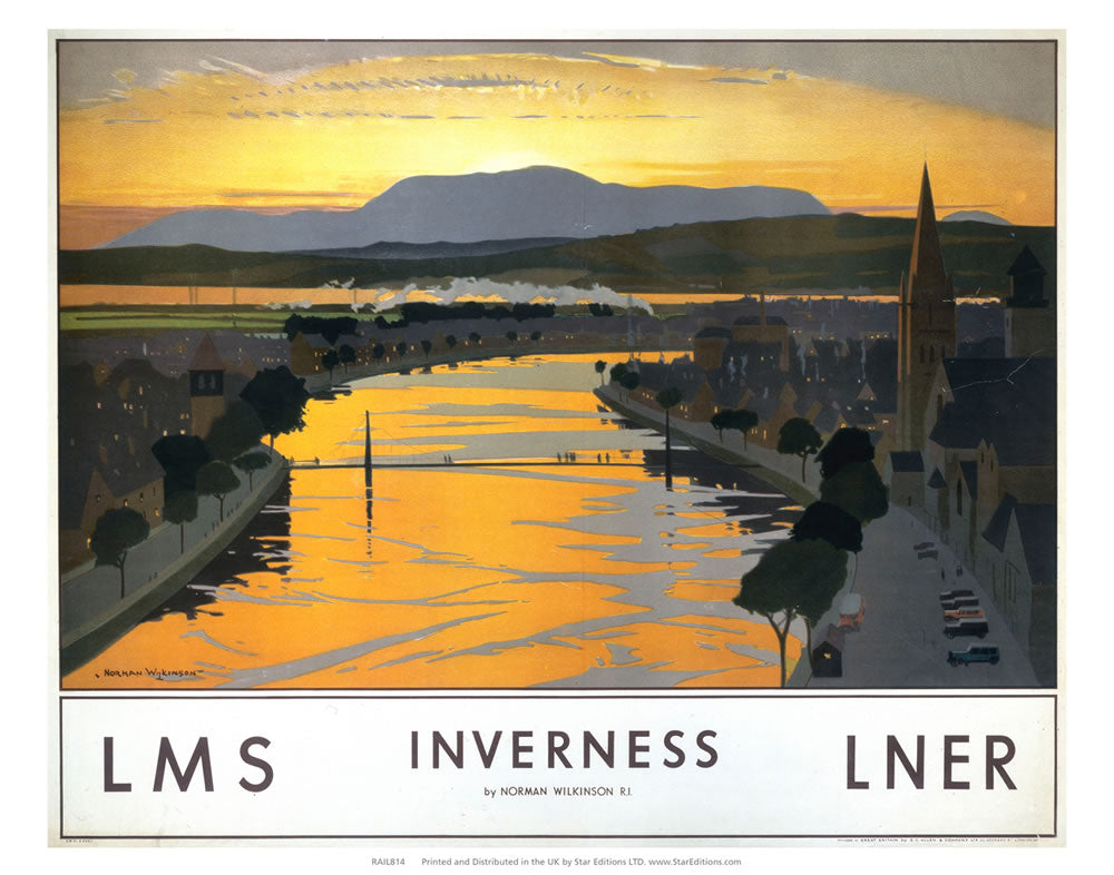 "Inverness at sunset 24"" x 32"" Matte Mounted Print"