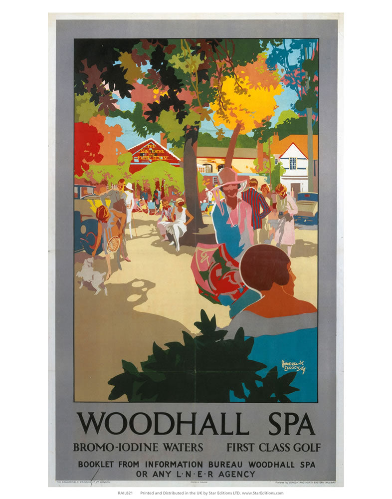 "Woodhall Spa Dromo-Iodine waters and first class golf 24"" x 32"" Matte Mounted Print"
