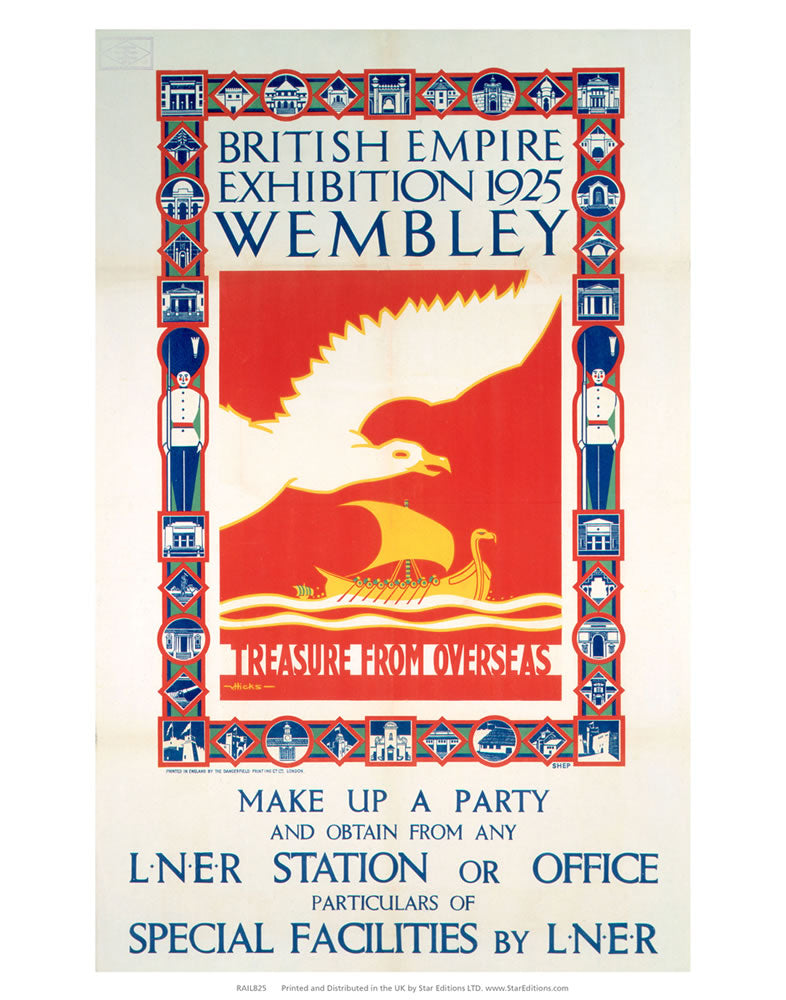 "British Empire Exhibition - Treasure from overseas 24"" x 32"" Matte Mounted Print"