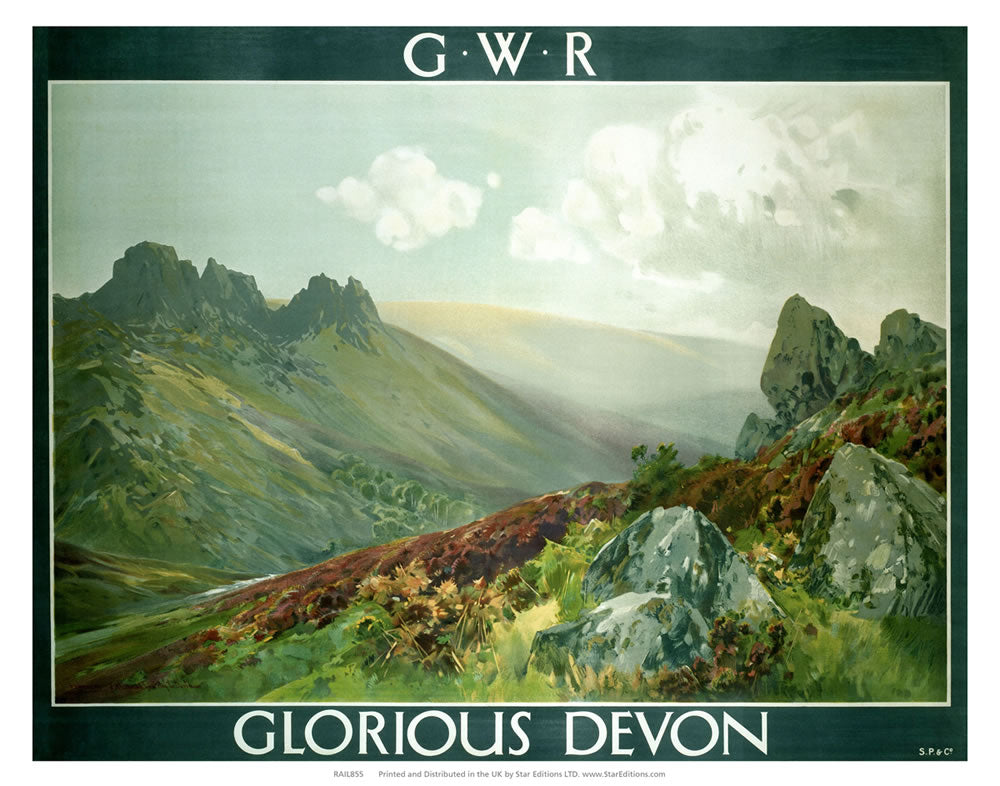 "Glorious Devon - GWR Railways Vallery Painting 24"" x 32"" Matte Mounted Print"