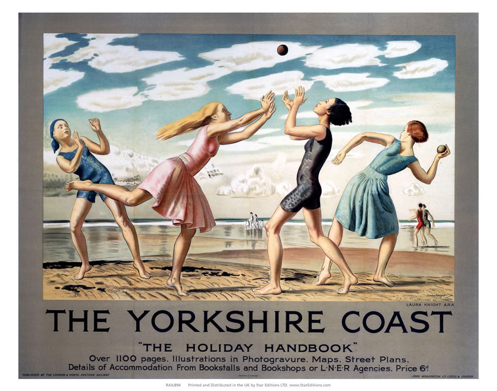 "Yorkshire Coast Holiday Handbook - 1100 Pages 24"" x 32"" Matte Mounted Print"