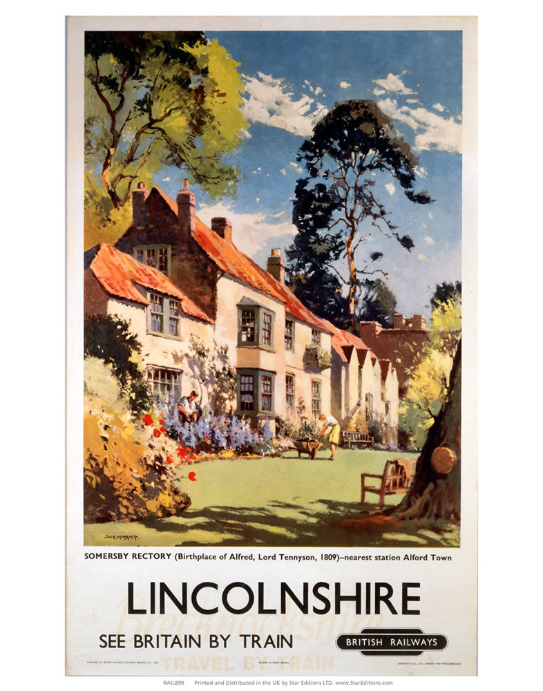 "Lincolnshire somersby Rectory 24"" x 32"" Matte Mounted Print"