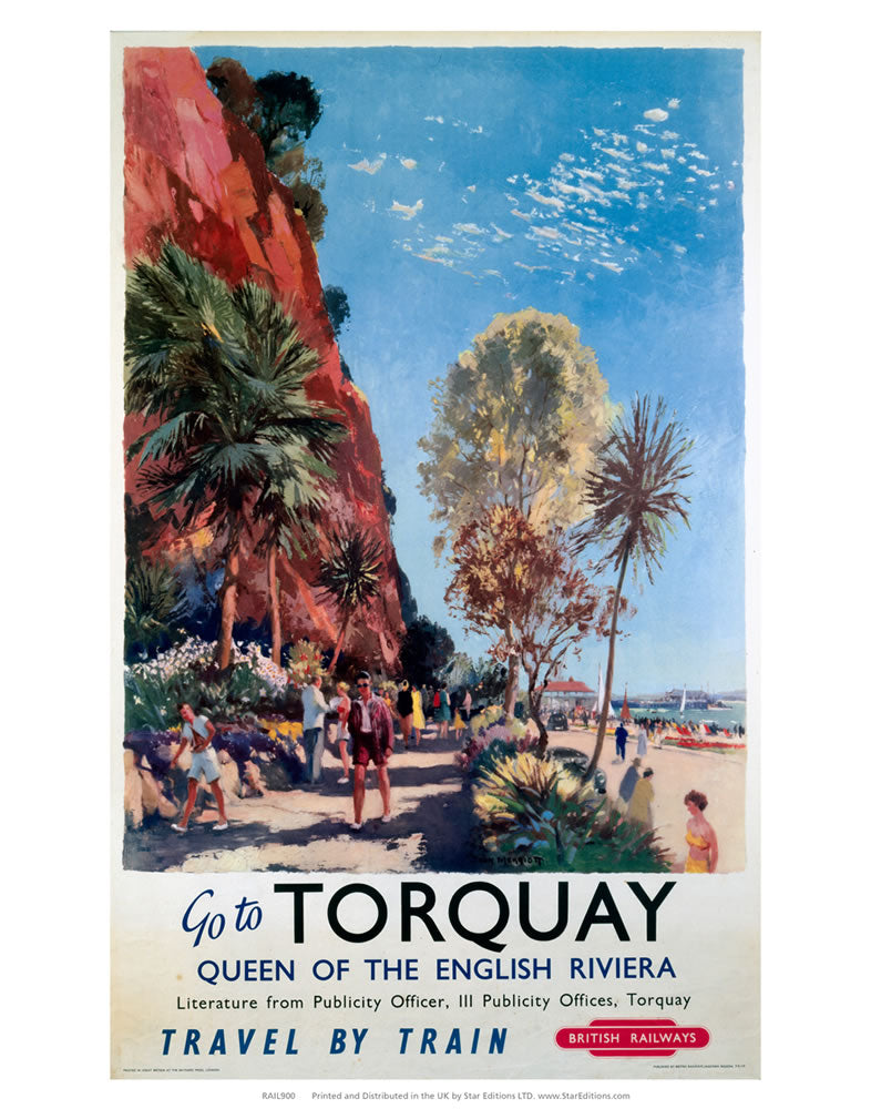 "Go to Torquay - Queen of the English Riviera 24"" x 32"" Matte Mounted Print"