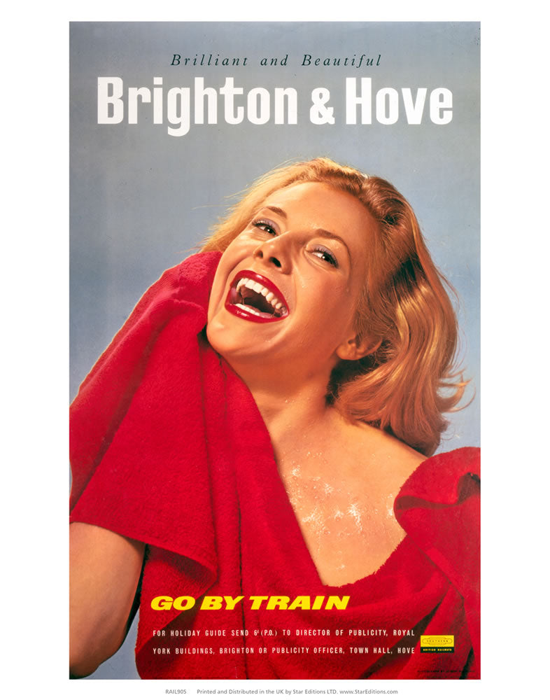"Brighton and Hove Woman in red - Brilliant and Beautiful 24"" x 32"" Matte Mounted Print"