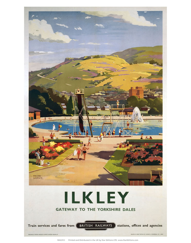 "Ilkley - gateway to the Yorkshire Dales 24"" x 32"" Matte Mounted Print"