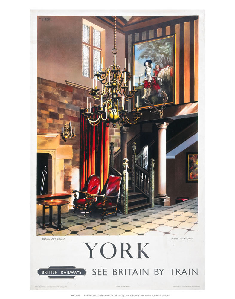 "York Treasurers house 24"" x 32"" Matte Mounted Print"