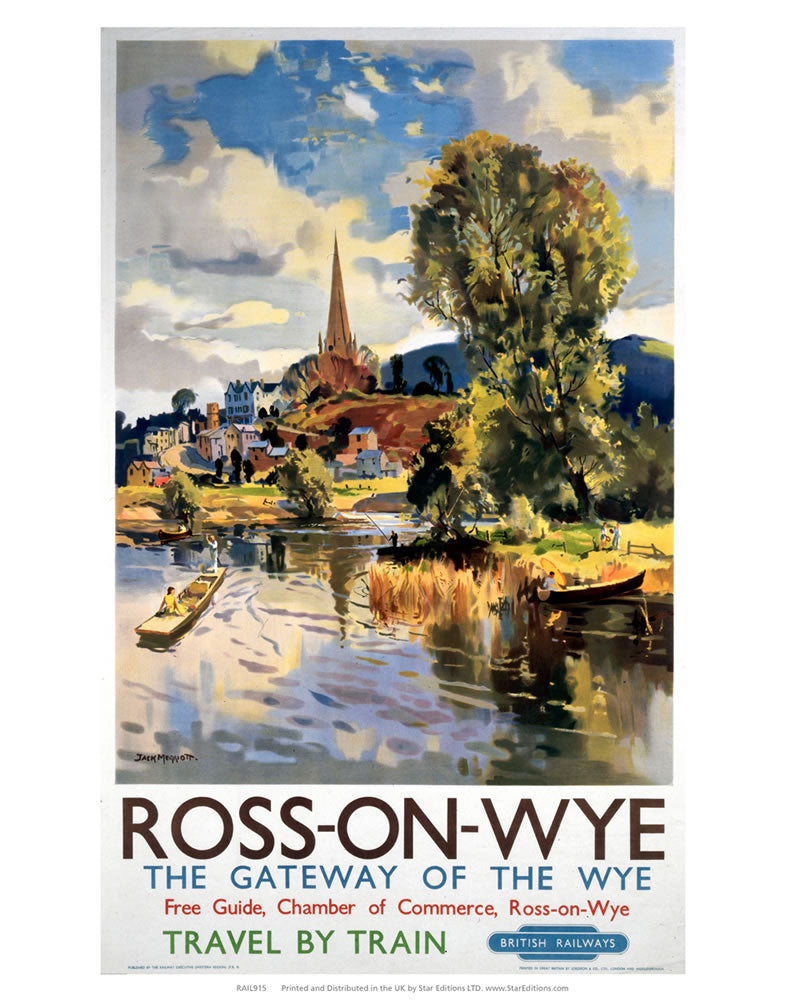 "Ross-on-Wye Gateway of the Wye 24"" x 32"" Matte Mounted Print"