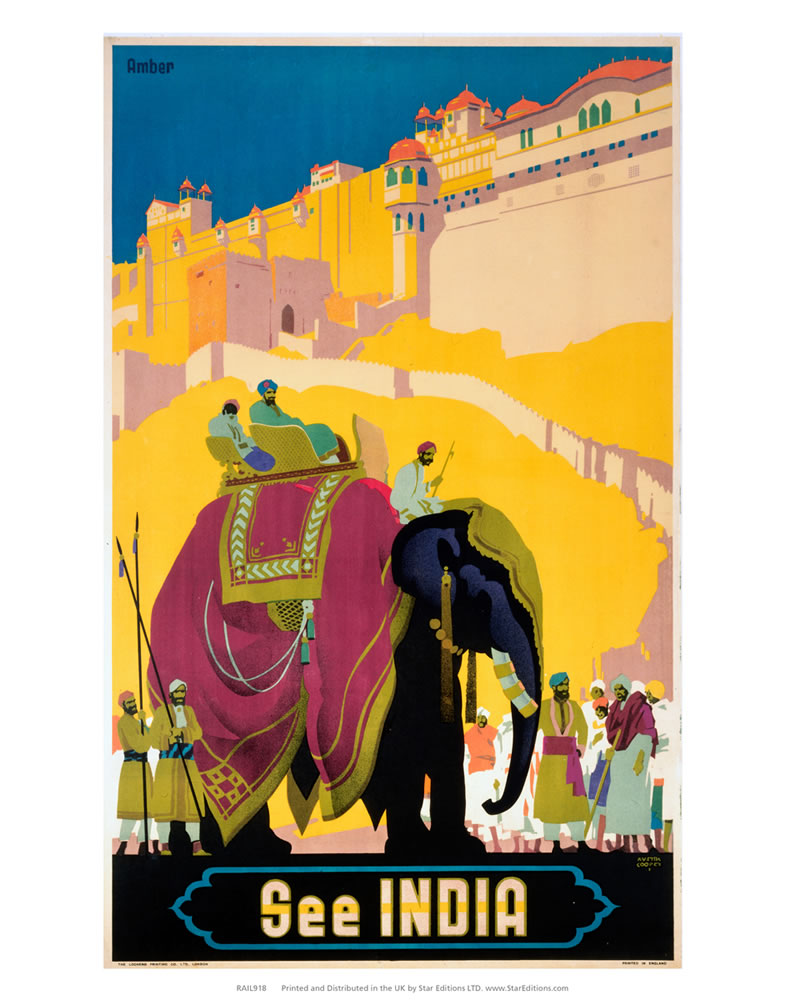"See India - Elephant 24"" x 32"" Matte Mounted Print"