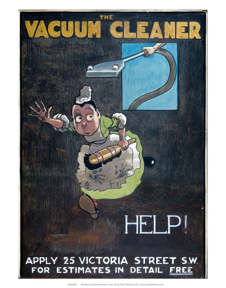 "The Vacuum Cleaner - HELP! 24"" x 32"" Matte Mounted Print"
