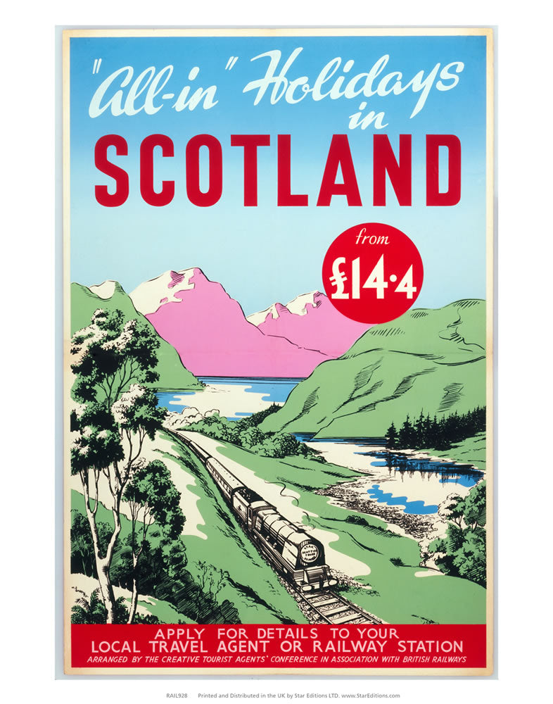"All-in holidays In Scotland From ?14.4 24"" x 32"" Matte Mounted Print"