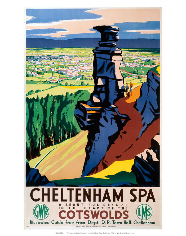 "Cheltenham Spa - Beautiful resort in the heart of the cotswolds 24"" x 32"" Matte Mounted Print"
