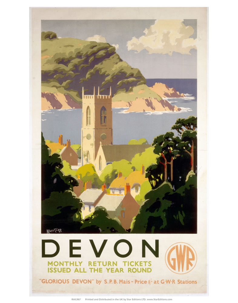 "Devon - Glorious Devon GWR 24"" x 32"" Matte Mounted Print"