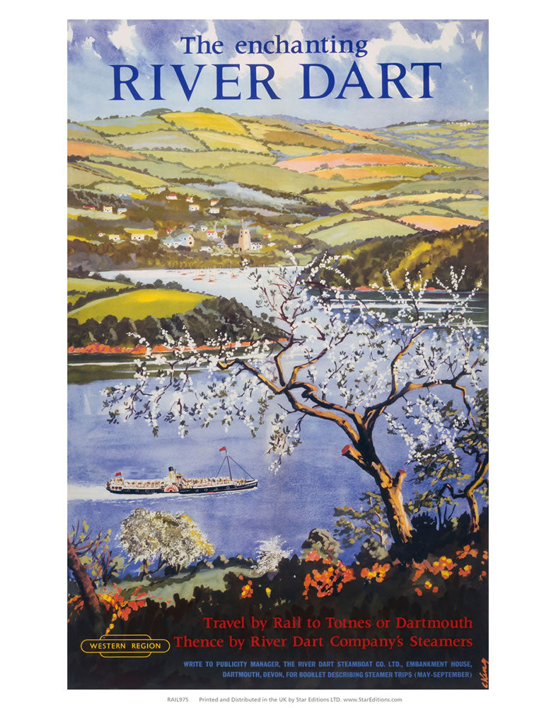 "Enchanting River Dart 24"" x 32"" Matte Mounted Print"