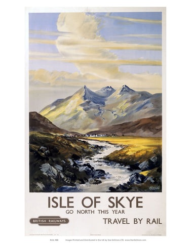 "Isle of Skye - Go North This year 24"" x 32"" Matte Mounted Print"