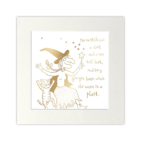 RBFOIL001 - Room On The Broom - Foil Print