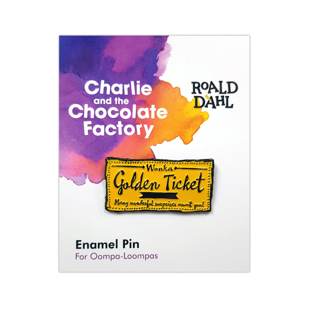 RDCFENAMELPIN: Roald Dahl Charlie and the Chocolate Factory Enamel Pin Packaged Rubber Keyring