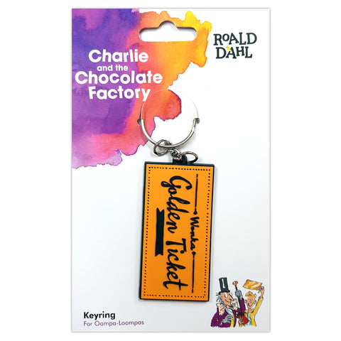 RDCFRUBBERKEYRING: Roald Dahl Charlie and the Chocolate Factory Rubber Keyring