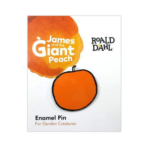 RDJGPENAMELPIN: Roald Dahl James and the Giant Peach Enamel Pin Packaged Rubber Keyring
