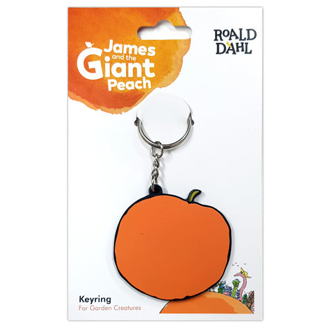 RDJGPRUBBERKEYRING: Roald Dahl James and the Giant Peach Rubber Keyring