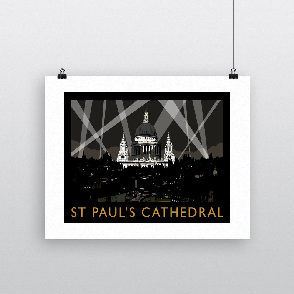 St Pauls Cathedral at Night, London 11x14 Print