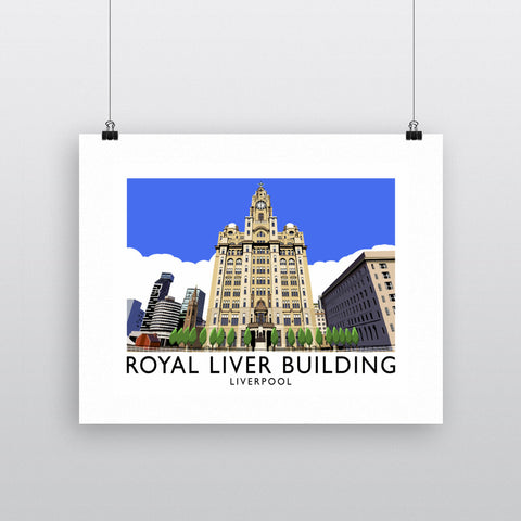 Royal Liver Building, Liverpool 11x14 Print