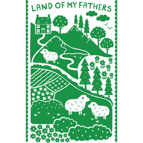 Land of My Fathers 20cm x 20cm Mini Mounted Print