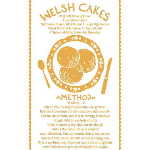 Welsh Cakes 20cm x 20cm Mini Mounted Print