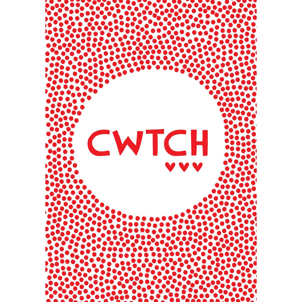 Cwtch 20cm x 20cm Mini Mounted Print