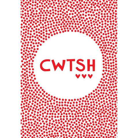 Cwtsh 20cm x 20cm Mini Mounted Print