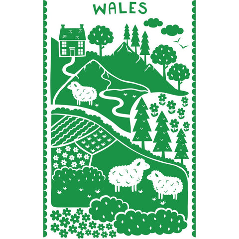 Wales 20cm x 20cm Mini Mounted Print