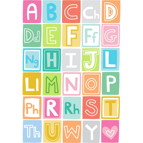 Alphabet 20cm x 20cm Mini Mounted Print