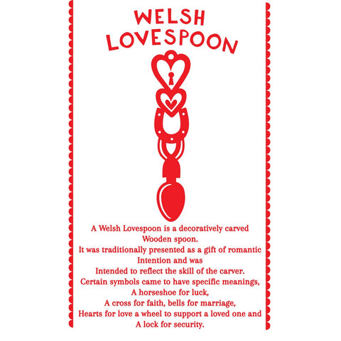 Welsh Lovespoon 20cm x 20cm Mini Mounted Print