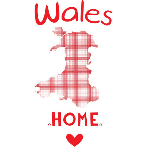 Wales, Home 20cm x 20cm Mini Mounted Print