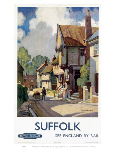 "Coddenham Suffolk See England By Rail 24"" x 32"" Matte Mounted Print"
