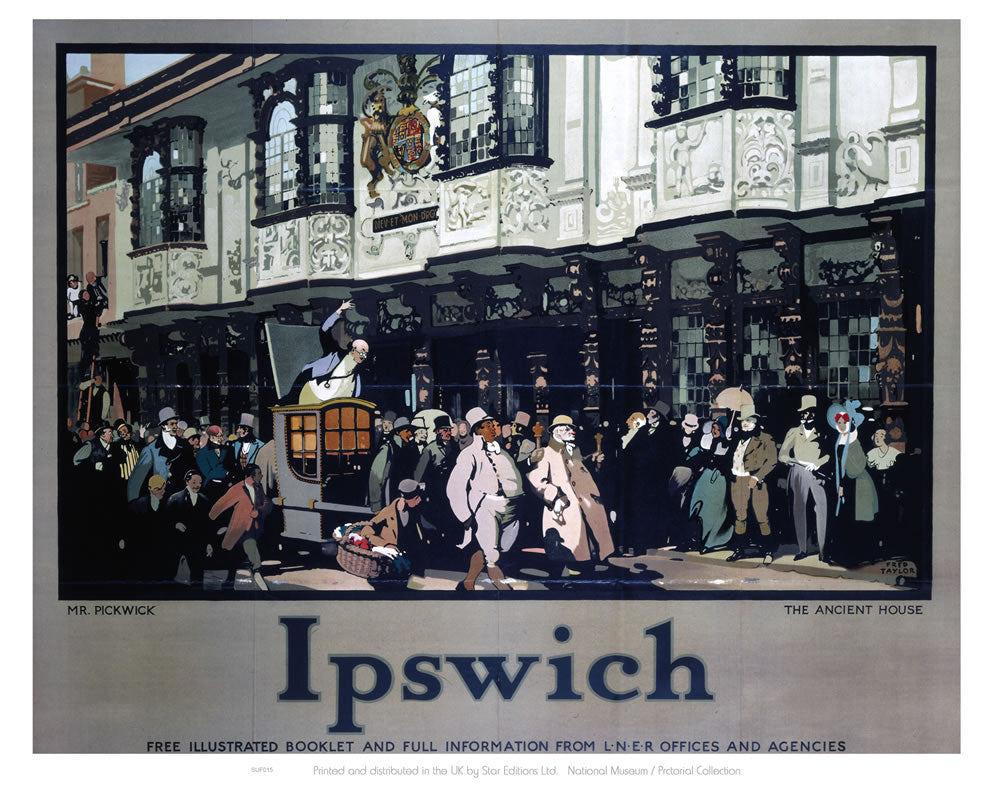 "Mr. Pickwick - Ancient House Ipswich 24"" x 32"" Matte Mounted Print"