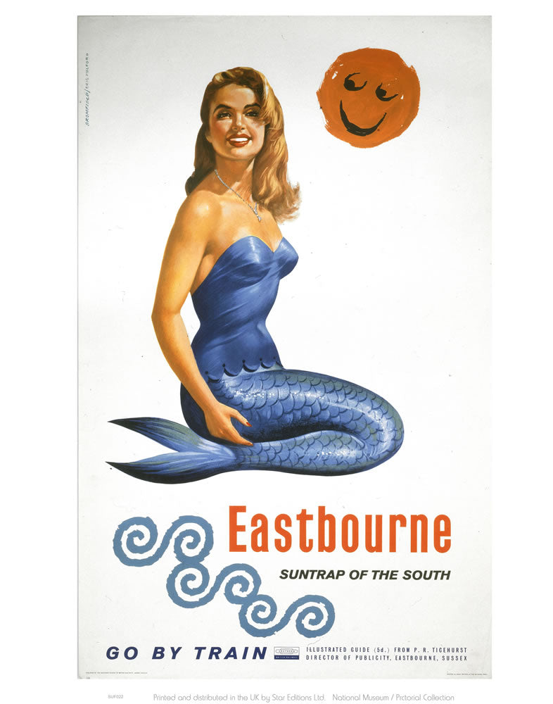 "Eastbourne Suntrap of the South 24"" x 32"" Matte Mounted Print"