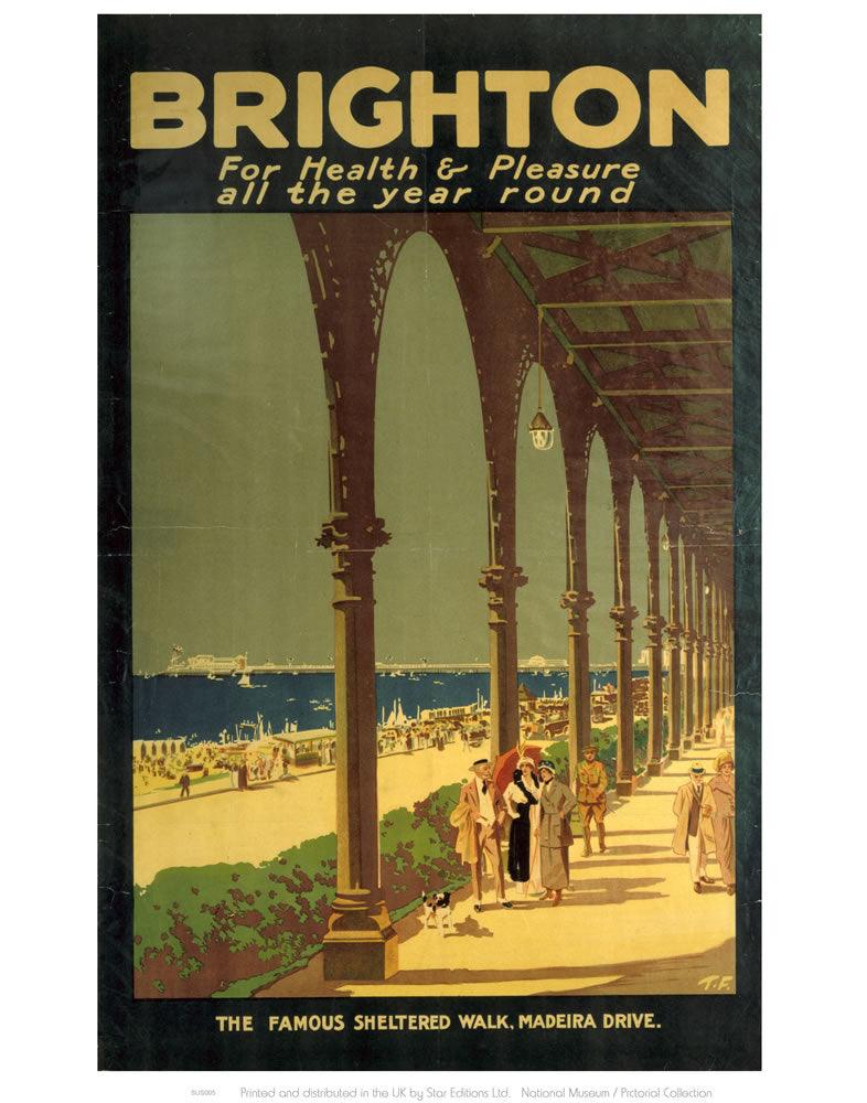 "Brighton for Health and Pleasure 24"" x 32"" Matte Mounted Print"