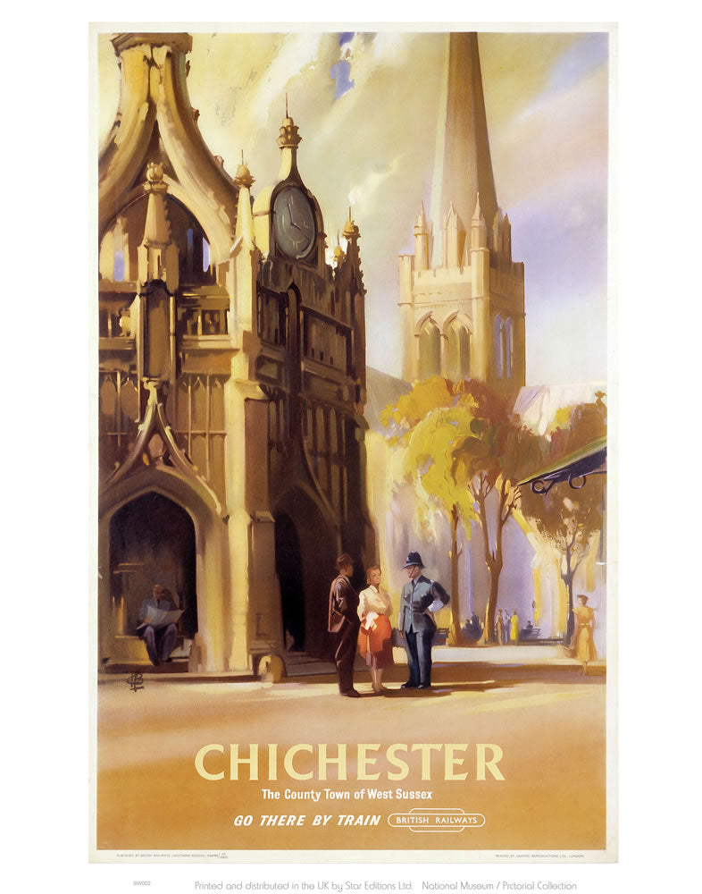 "Chichester Cathedral West Sussex 24"" x 32"" Matte Mounted Print"