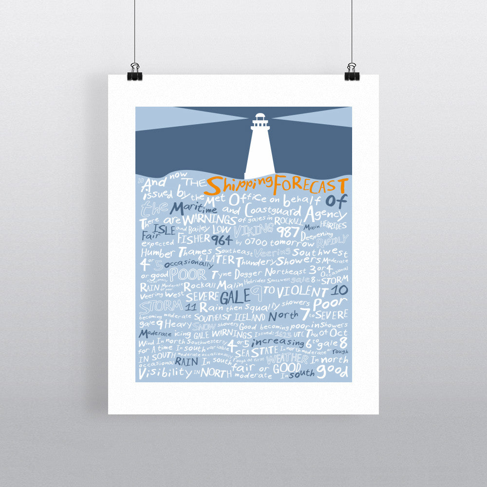 The Shipping Forecast, 11x14 Print