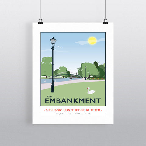 The Embankment, Bedford 11x14 Print