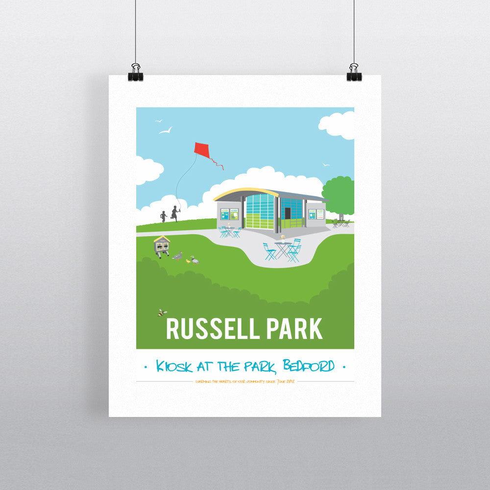 Russell Park, Bedford 11x14 Print