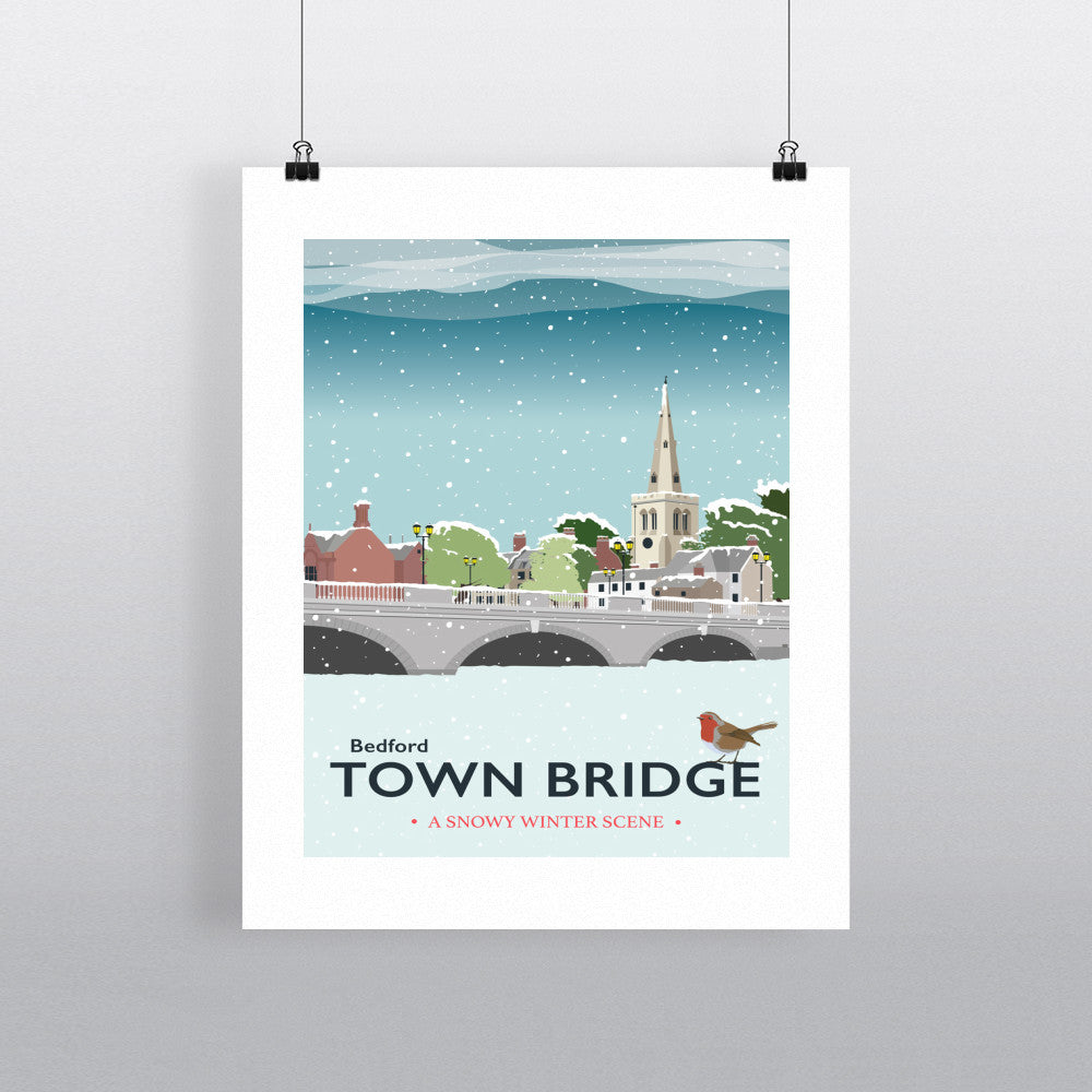 The Town Bridge, Bedford 11x14 Print